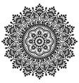 mehndi indian mandala design - traditional vector image