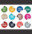 paper sale stickers collection 3 vector image vector image