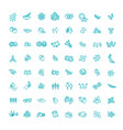 plant seed and nuts icon set vector image