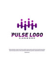 pulse logo design concept people beat logo vector image vector image