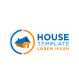 real estate house template logo vector image vector image