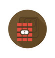 red dynamite with timer icon bomb detonator vector image
