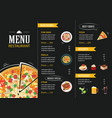 restaurant cafe menu template flat design vector image vector image