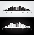 san jose costa rica skyline and landmarks vector image vector image