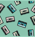 seamless audio cassettes background vector image
