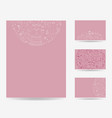 set of blank templates vector image