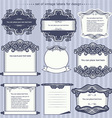 Set of calligraphic design frames vector image