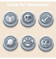 silver coins for Halloween vector image