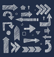 sketch arrows hand drawn chalk images direction vector image vector image