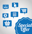 special offer design vector image