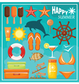 Summer beach set vector image vector image