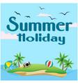summer holiday island background image vector image