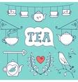 tea card set elements for design vector image
