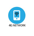 technology icon network sign 4g 4g internet vector image
