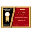 template certificate appreciation elegant gold