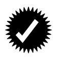 tick or check label or emblem icon image vector image