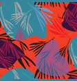 tropical colorful palm leaf background vector image vector image