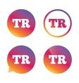 Turkish language sign icon TR translation vector image vector image