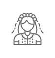 ukrainian woman in traditional national dress vector image vector image
