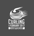 vintage curling labels and design elements vector image vector image