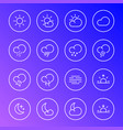 weather icons meteorology simple line symbols vector image vector image