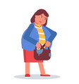 woman with purse flat