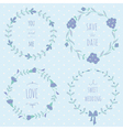 Wreaths set vector image vector image