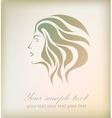 Beautiful girl face on background vector image