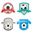 Set of soccer football and logo emblem designs vector image