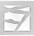 torn paper blank realistic scraps of vector image