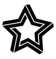 3D Star vector image vector image