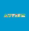 autism concept word art vector image vector image