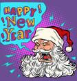 bad santa happy new year vector image vector image