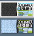 banners for renewable energy vector image