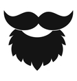 Beard and mustache icon simple style vector image vector image