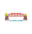 big automobile or railway bridge urban transport vector image vector image