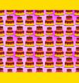 birthday pattern background shaped tart cake vector image vector image