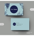 Business card template with grapes ornament