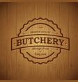 butchery vintage logo vector image vector image