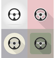 car equipment flat icons 02 vector image
