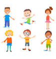 cartoon happy kids ant teen characters set vector image