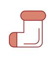 christmas socks isolated icon vector image