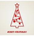 Christmas tree background vector image