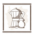 coffee time concept vector image