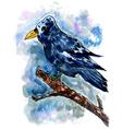 Crow Sketch02 vector image vector image