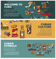 cuban culture and symbols promotional internet vector image
