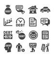 debt icon vector image vector image