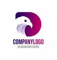 eagle shape logo design vector image vector image