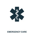 emergency care icon line style icon design ui vector image