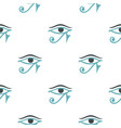 eye of horus pattern seamless vector image vector image